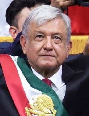 Foto: Andrés Manuel López Obrador, Presidente de México.Credit:Wikipedia. Image under License CC Attribution