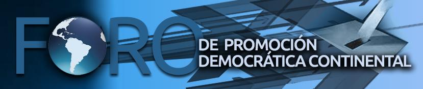 Logo del Foro de Promoción Democrática Continental